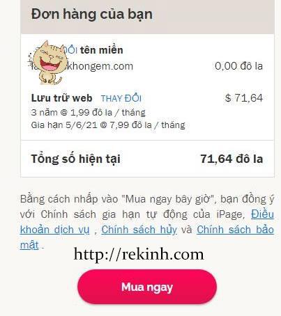 hosting giảm giá 75% tặng miễn phí tên miền