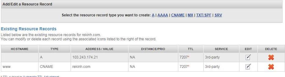 trỏ tên miền namesilo về hosting