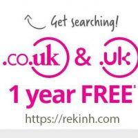 Tên Miền Miễn Phí .UK Và .CO.UK 1 Năm