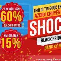 AZDIGI Khuyến Mãi Black Friday 2018 giảm 60% trọn đời Hosting , VPS