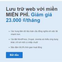 Mua Hosting Tặng Tên Miền .COM Miễn Phí Giá 23 Ngàn / Tháng Để Học Làm Website