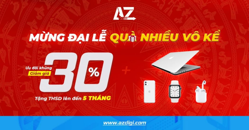 AZDIGI giảm 30% tất cả dịch vụ