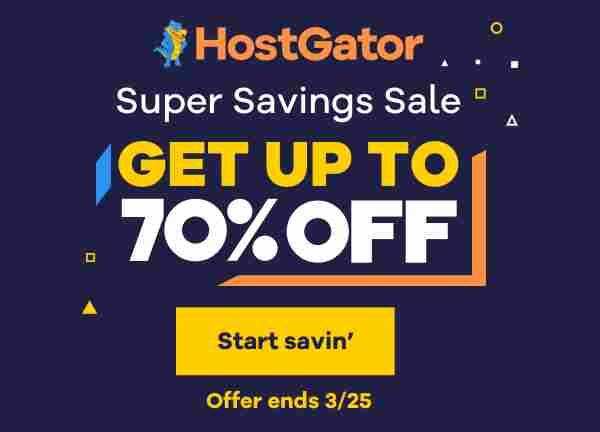 Hostgator Giảm Giá 70%