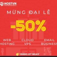 HOSTVN giảm giá dịch vụ 50%